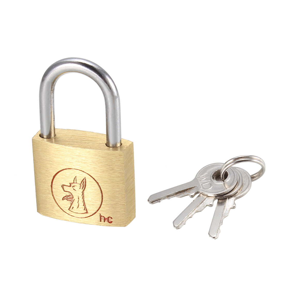 Mini Size Security Brass Door Lock Padlock with 3 Keys