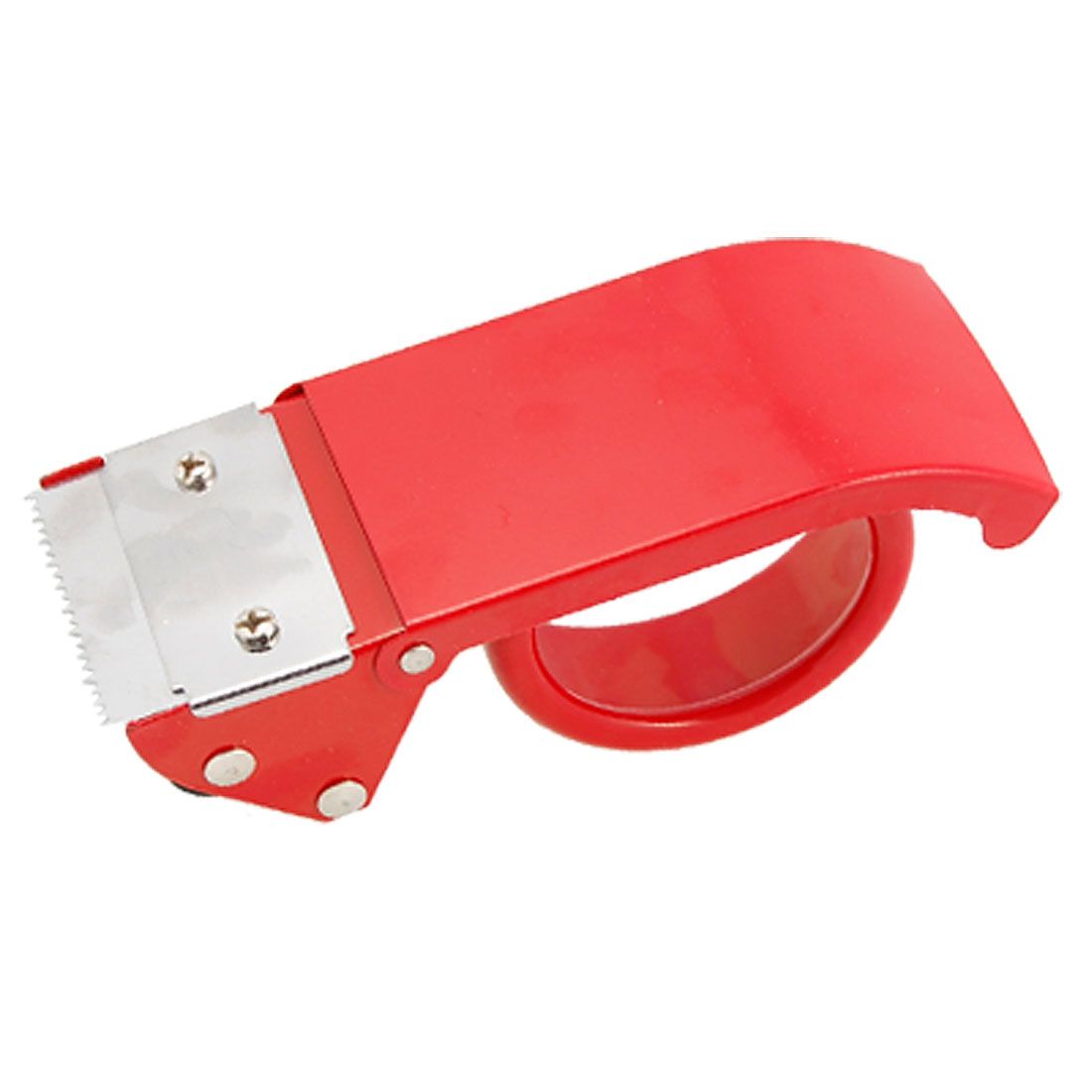 "Red Metal 2"" Wide Packaging Sealing Tape Roll Dispenser Cutter"
