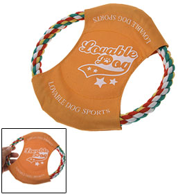 Orange Cotton Rope Disc Frisbee Toy for Dog Pet