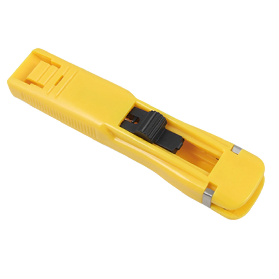Yellow Plastic Handheld Small Fast Clam Clip Dispenser