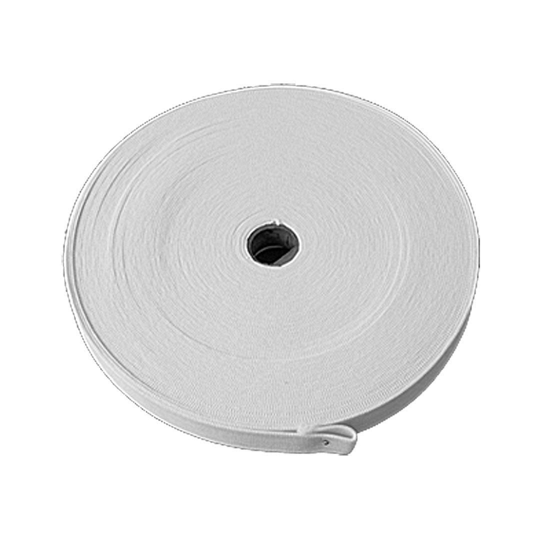 White Elastic Knitting Tape Band Webbing for Garment