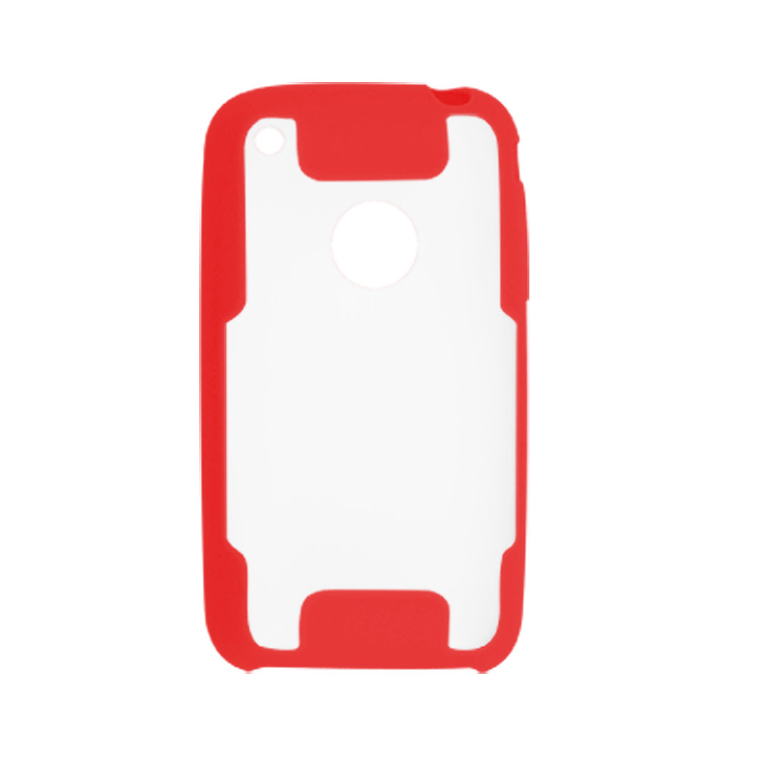 Red and Anti Glare Clear Back Plastic Case Cover for iPhone 3G