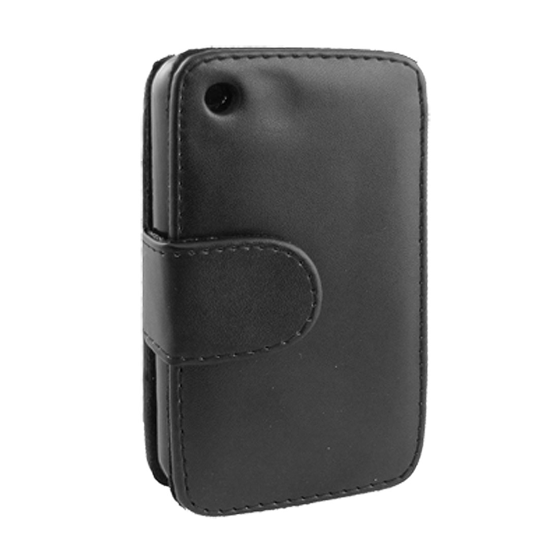 Magnetic Black Faux Leather Pouch Holder for iPhone 3G