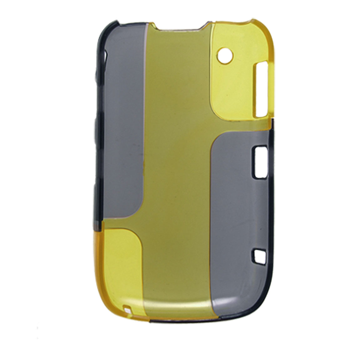 Yellow Gray Double Color Clear Plastic Case for Blackberry Curve 8520