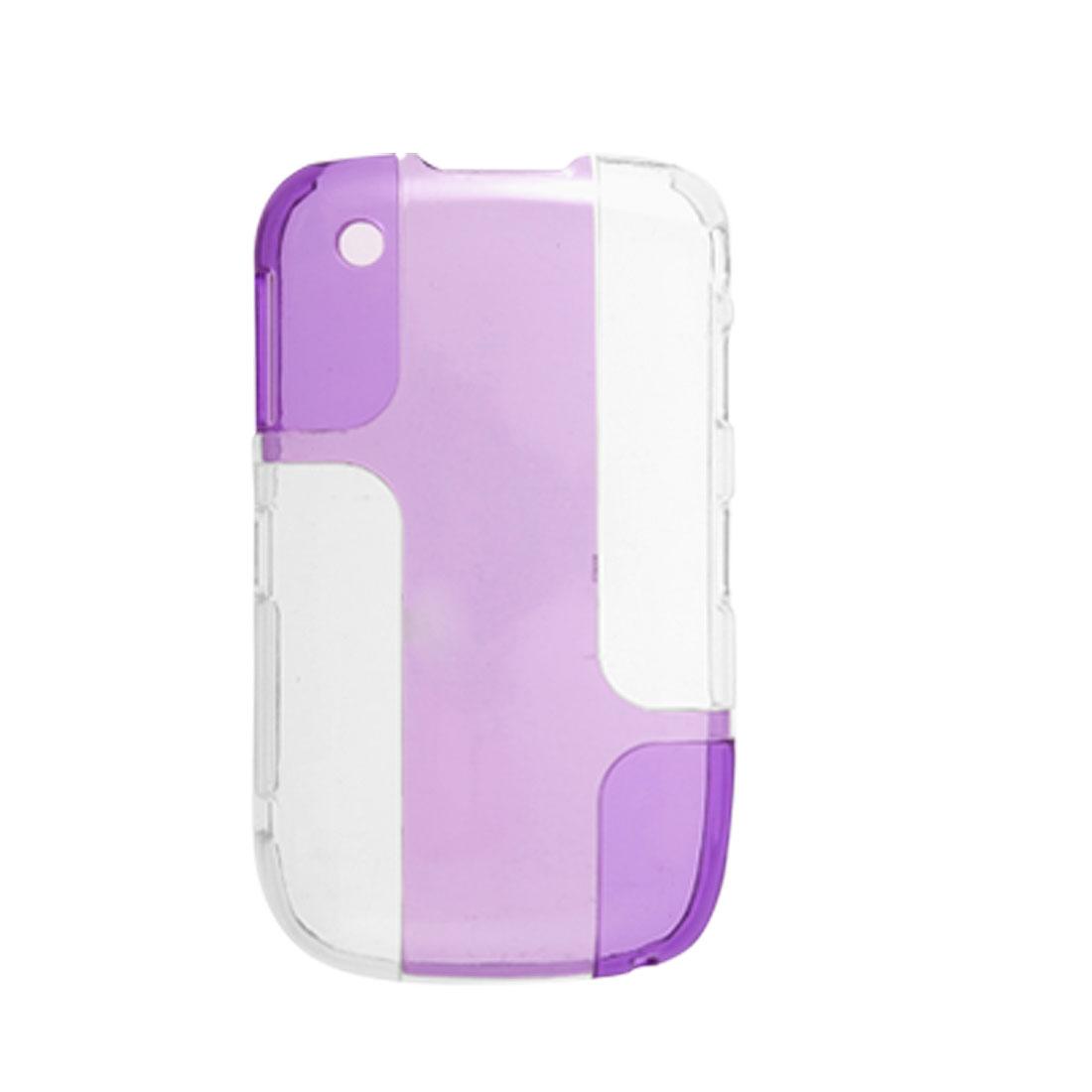 Purple Clear Double Color Hard Plastic Case for Blackberry Curve 8520