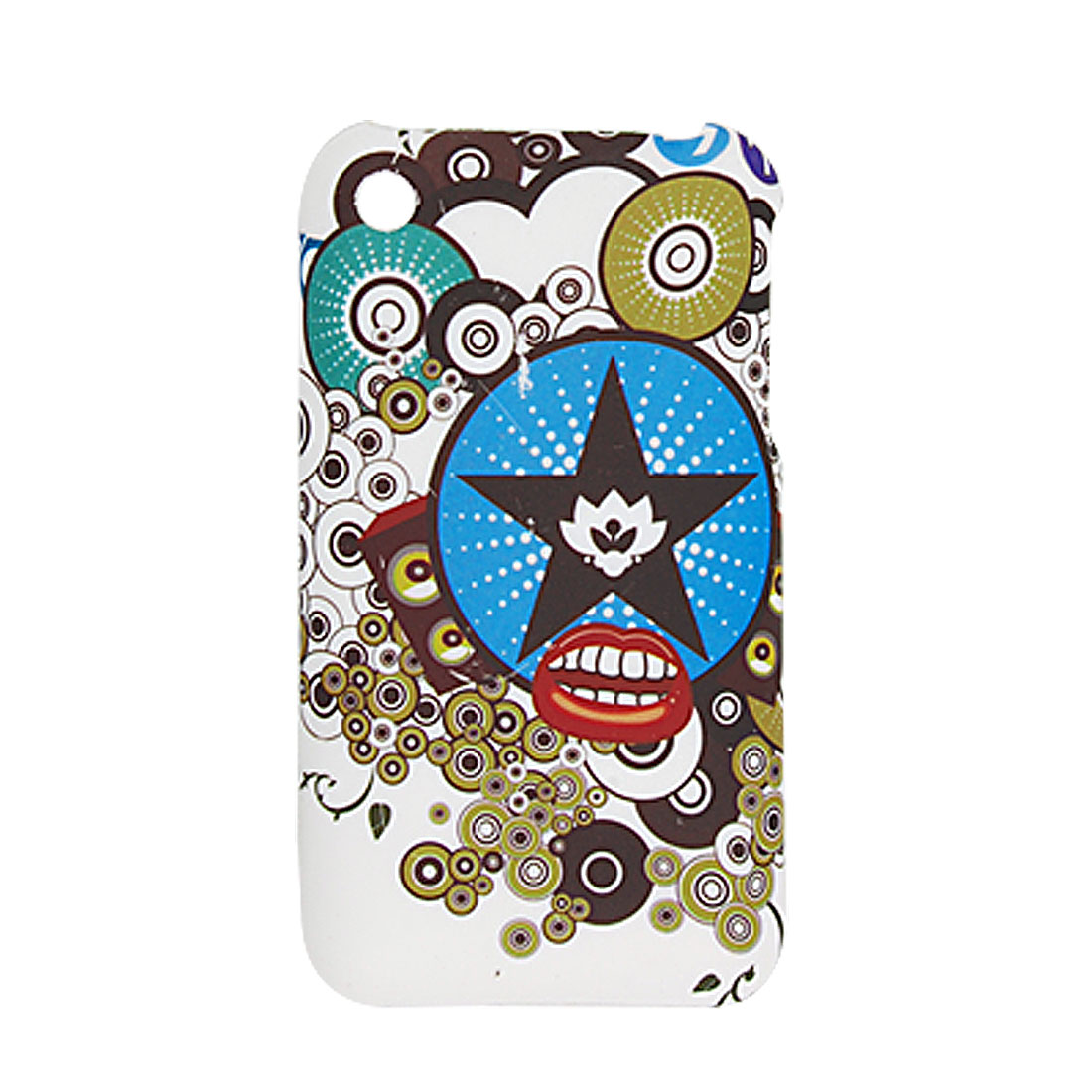 Cartoon Decor Rubberized Hard Plastic Case for Apple iPhone 3G