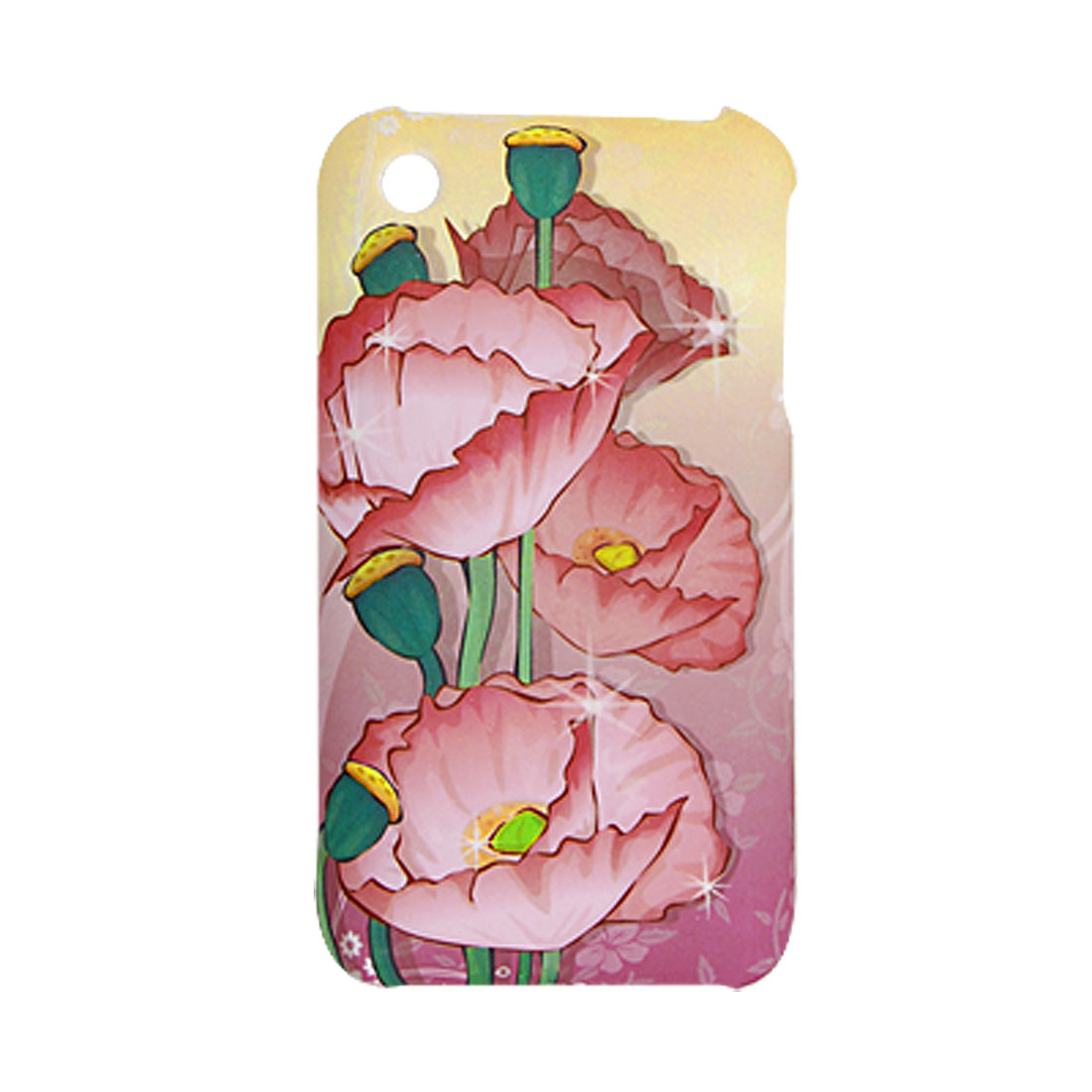 Lotus Leaves Pattern Rubberized Hard Plastic Case for Apple iPhone 3G