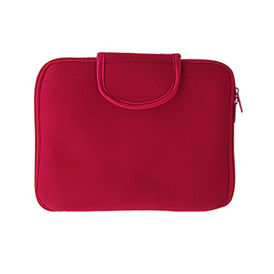 Light Red Neoprene Zipper Sleeve Handbag for Apple iPad 1