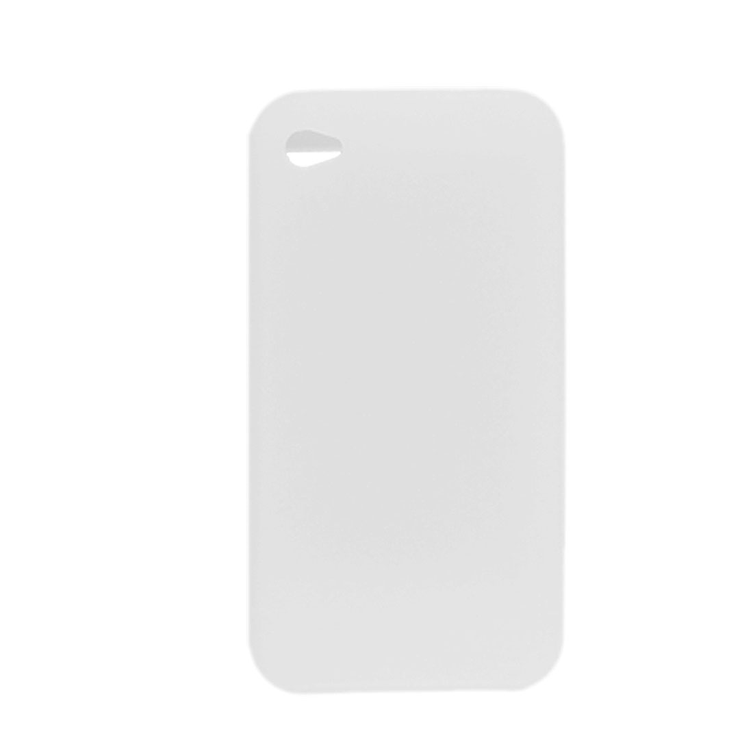 Clear White Soft Silicone Skin Case Shell Cover for Apple iPhone 4 4G