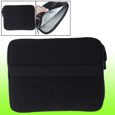 Black Two-way Zipper Portable Laptop Pouch Sleeve Bag for Notebook