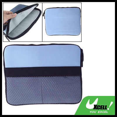 Blue Two-way Zipper Portable Laptop Pouch Sleeve Case for Notebook