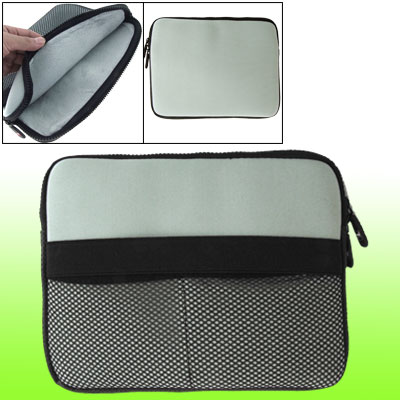 Gray Two-way Zipper Laptop Protector Pouch Sleeve for Cellphone Notebook