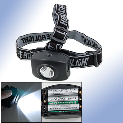 LED White Light Camping Headlight Head Light Black
