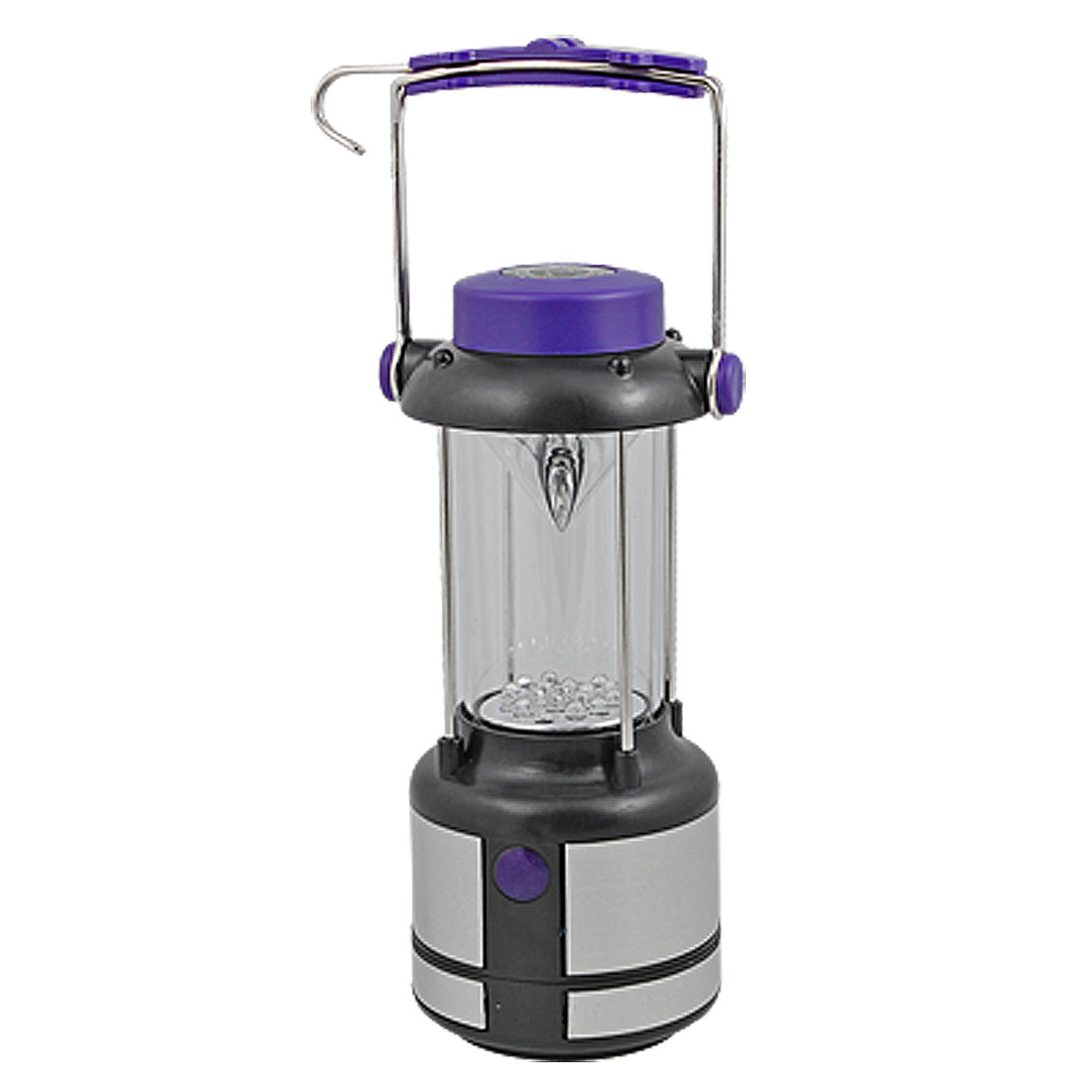17 LED White Light Camping Hiking Lantern with Decorative Compass