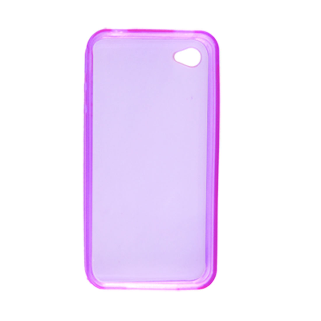 Clear Purple Soft Plastic Skin Back Case Protector for Apple iPhone 4 4G