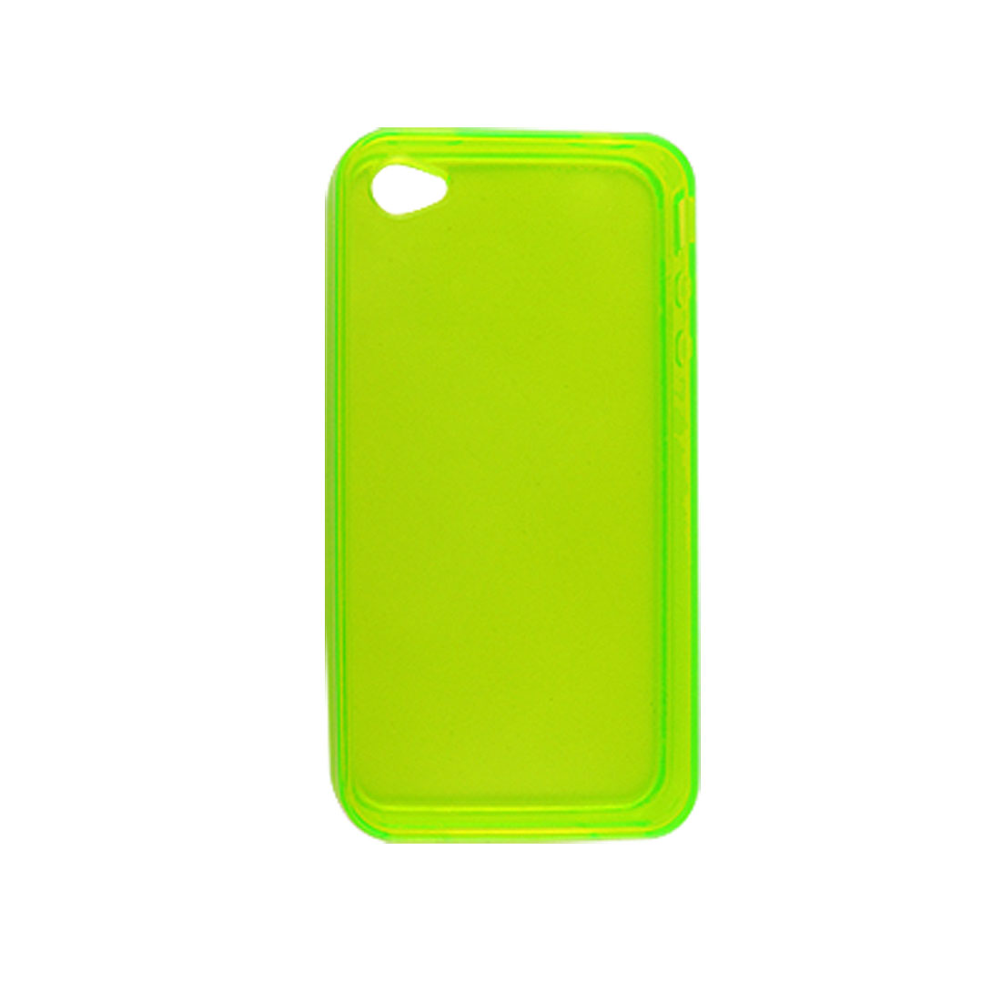 Clear Green Soft Skin Plastic Back Case Shell for iPhone 4 4G