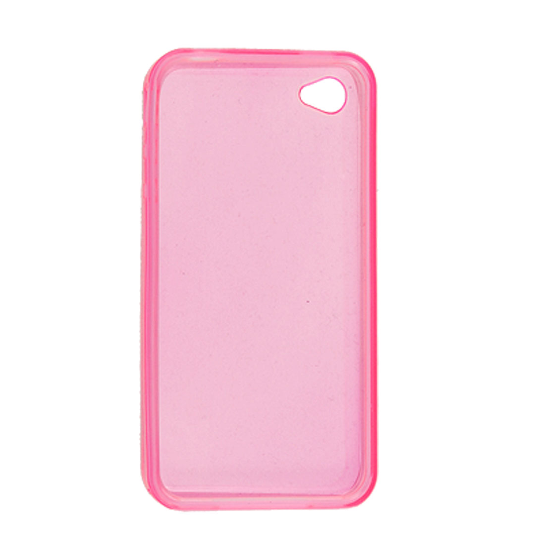 Soft Plastic Skin Clear Pink Back Protector for iPhone 4