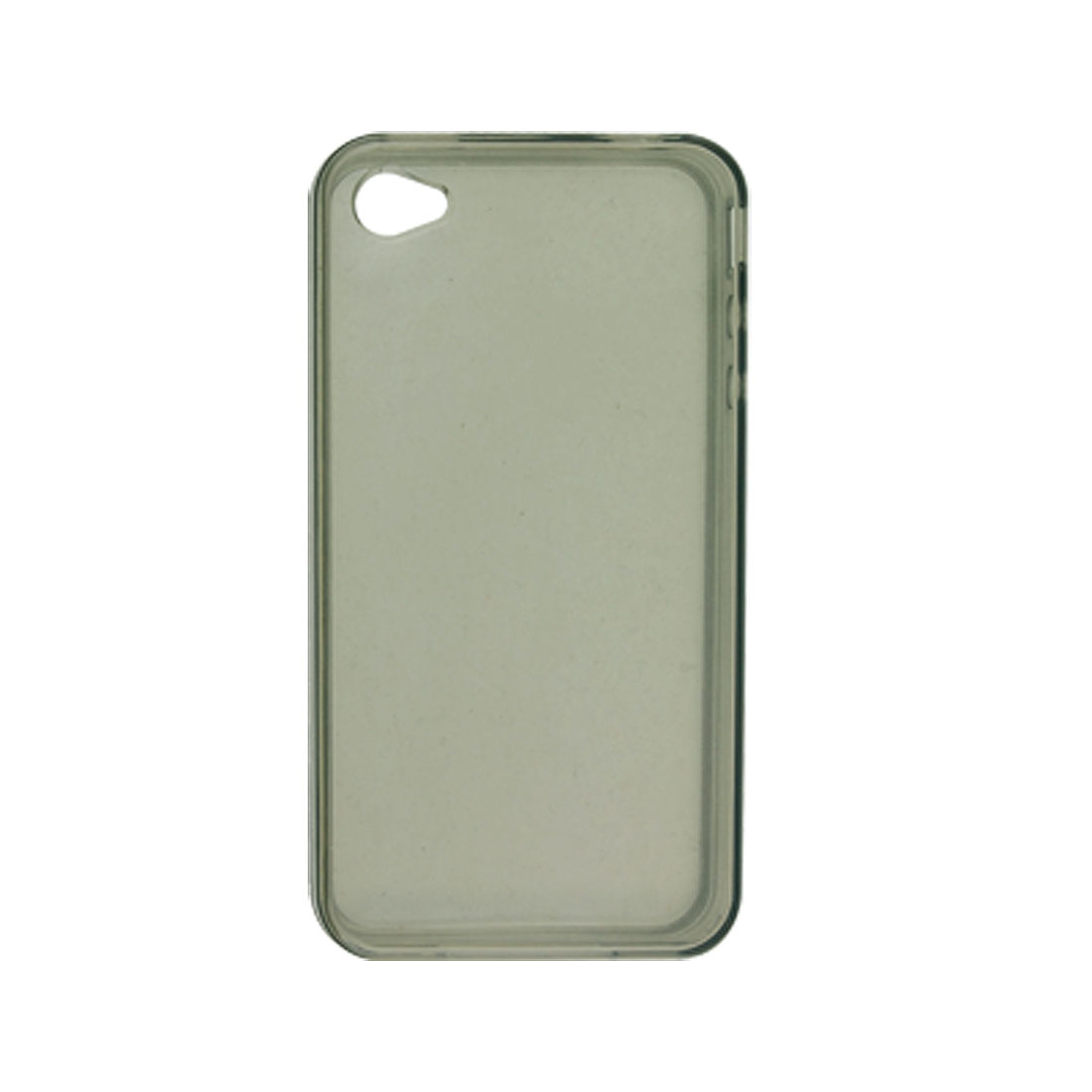 Clear Grey Soft Plastic Skin Case Protector for Apple iPhone 4 4G