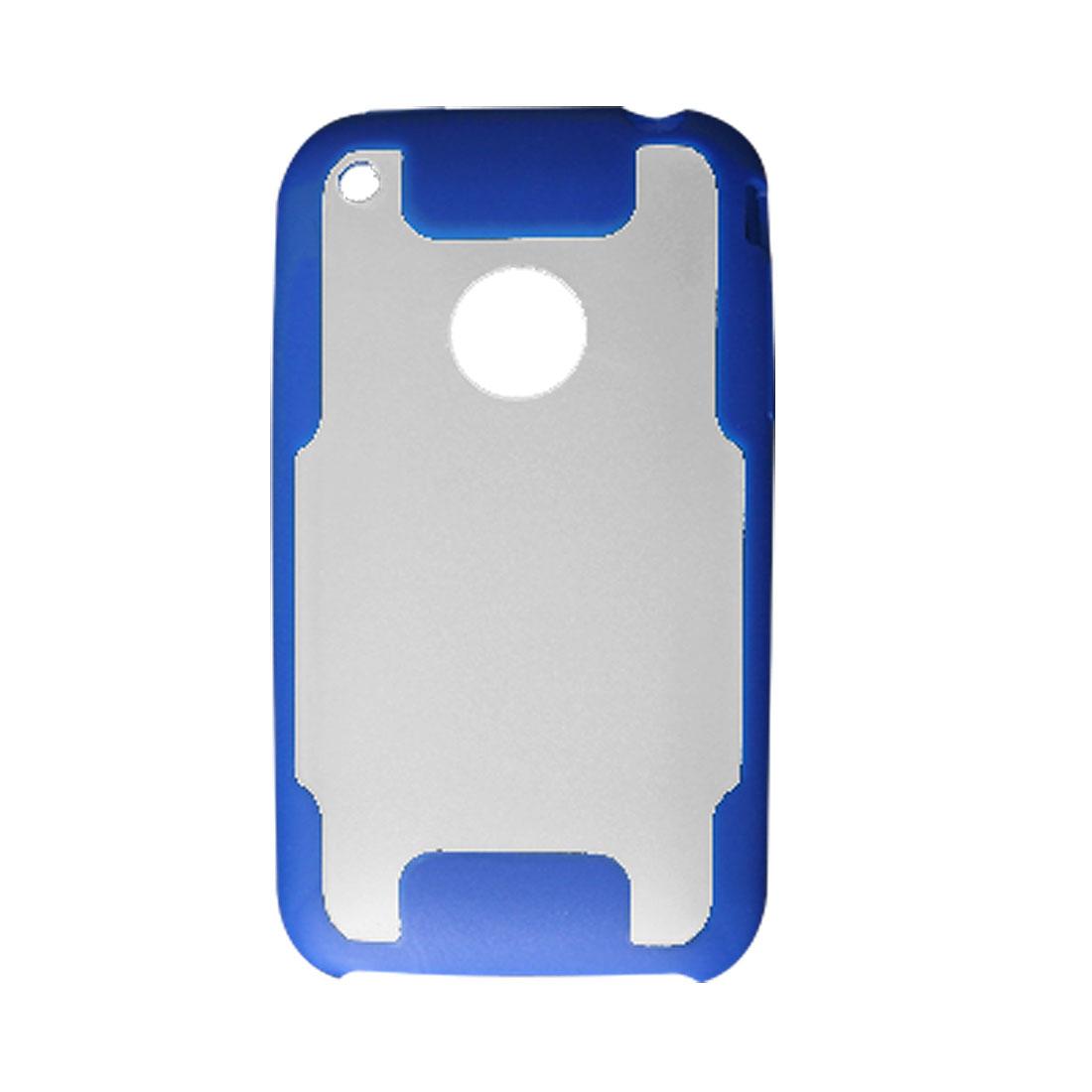 Blue Frame Hard Plastic Back Case Cover for iPhone 3G