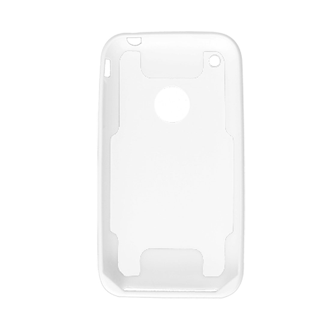 Clear White Hard Plastic Shell Case Cover for iPhone 3G