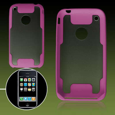 Ultra Pink Clear Hard Plastic Cover for iPhone 3G