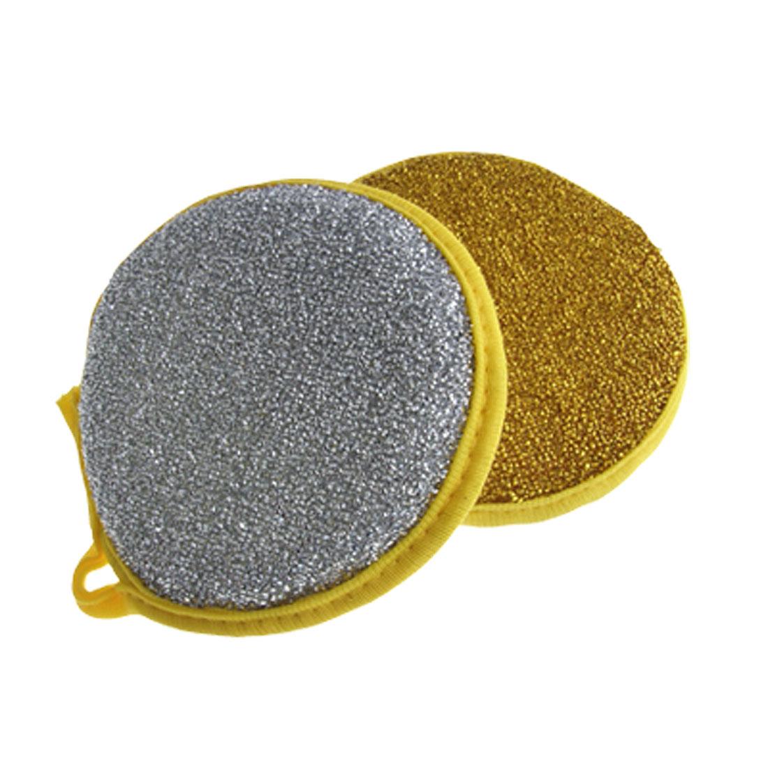 2Pcs Pad Metallic Scrub w Sponge Kitchen Dish Cleaning Pxzrb
