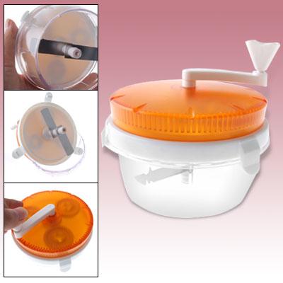 Orange Plastic Twist Vegetable Fruit Food Chopper W Handle