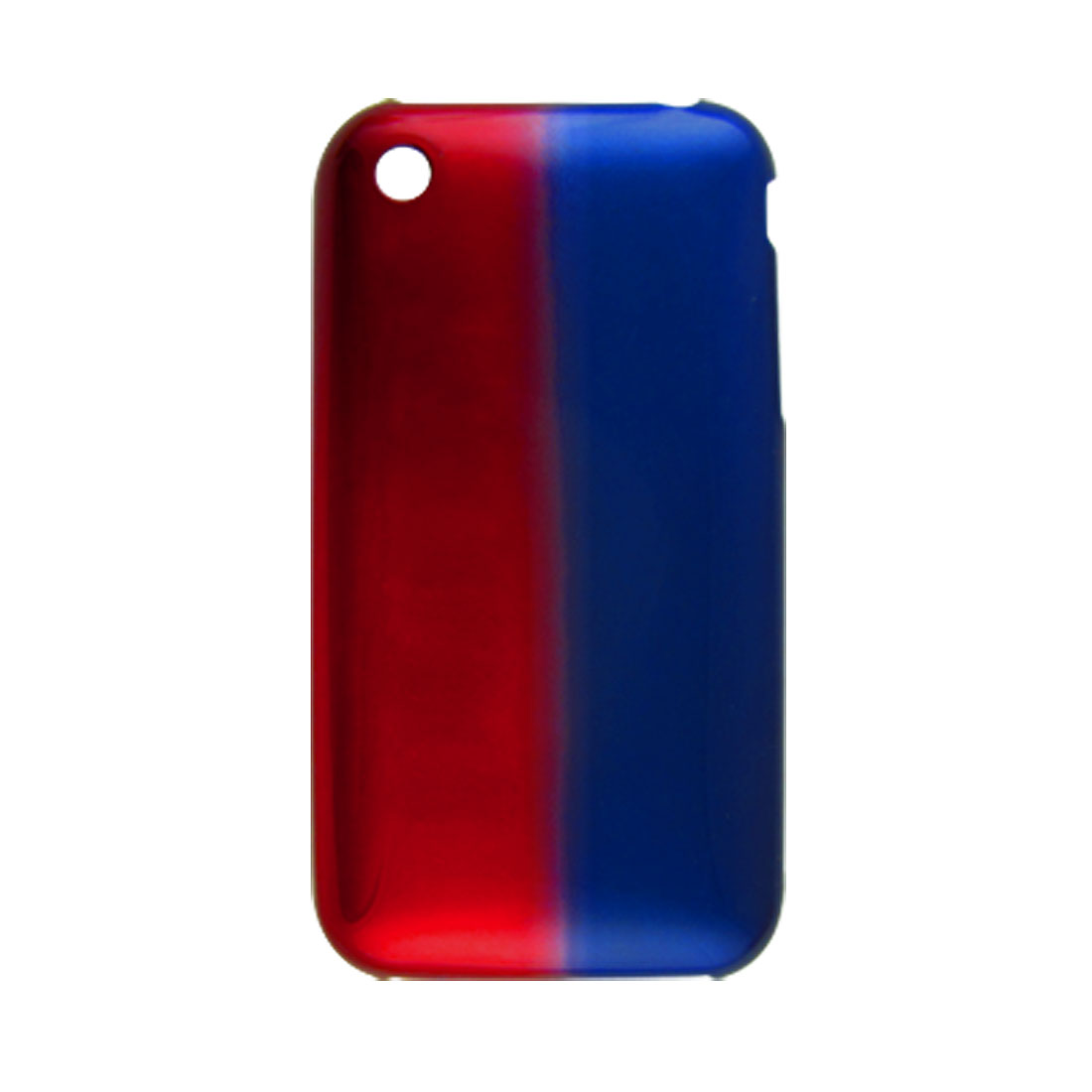 Dark Red Blue Hard Plastic Shield Cover for iPhone 3G