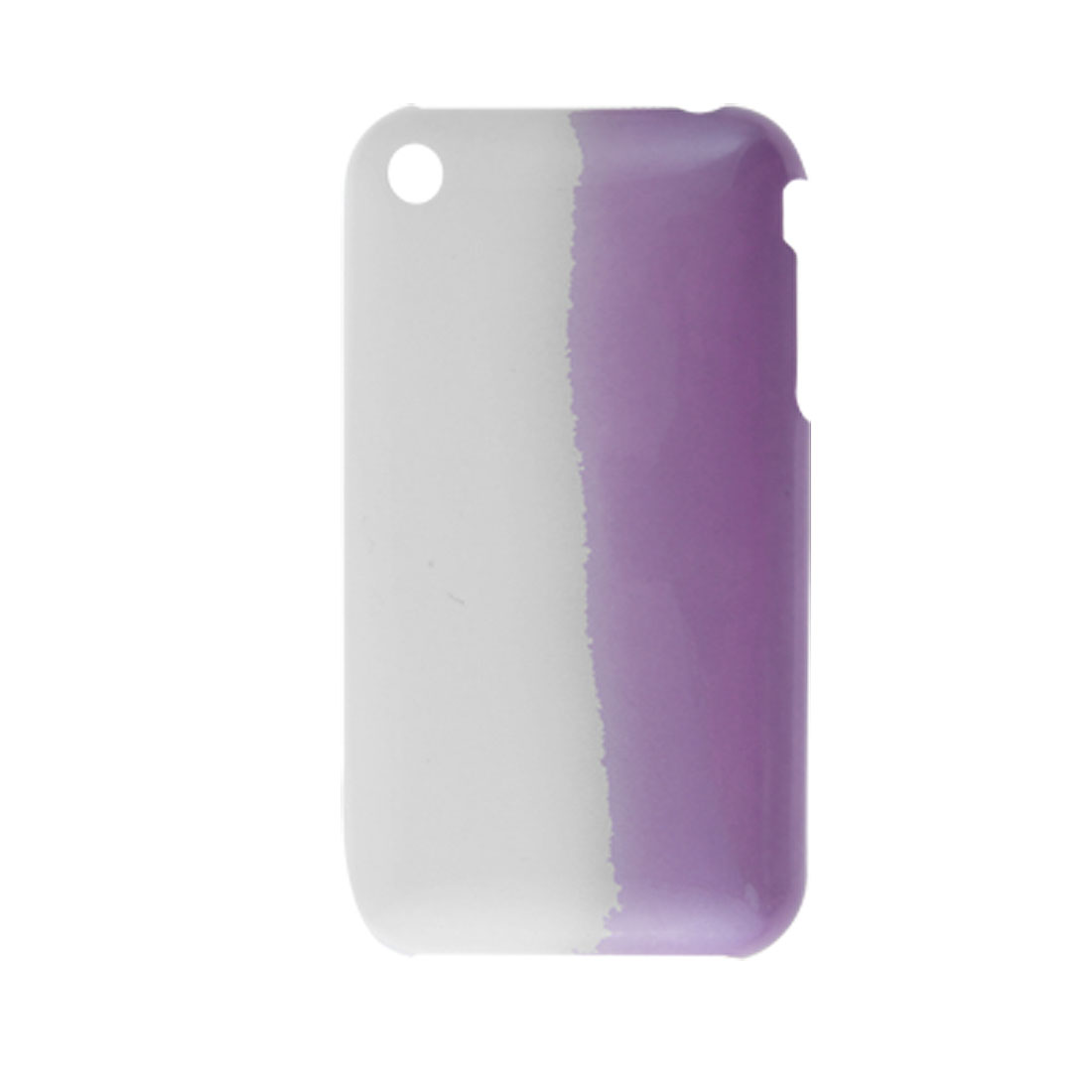 White Purple Hard Plastic Shell Cover for iPhone 3G