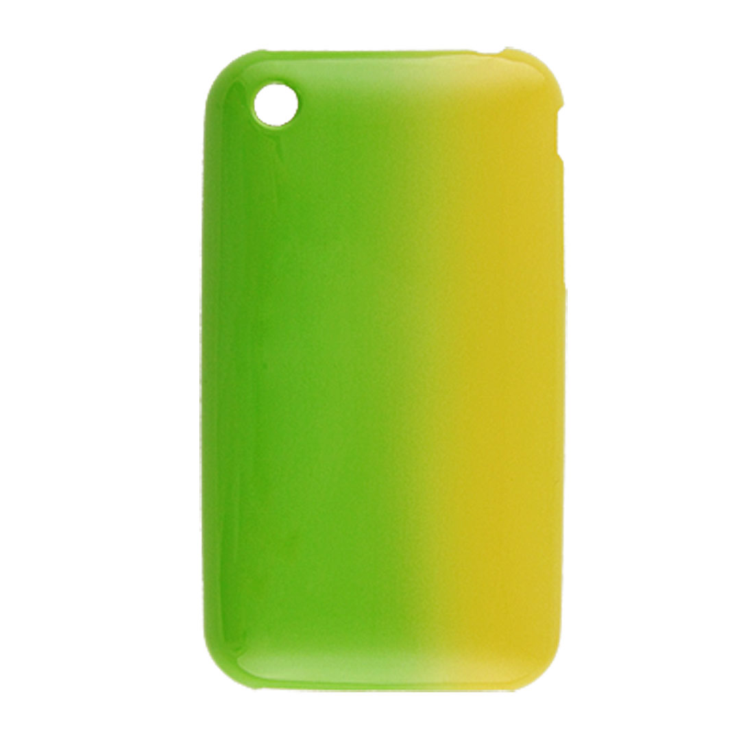 Green Yellow Hard Plastic Shell Cover for iPhone 3G