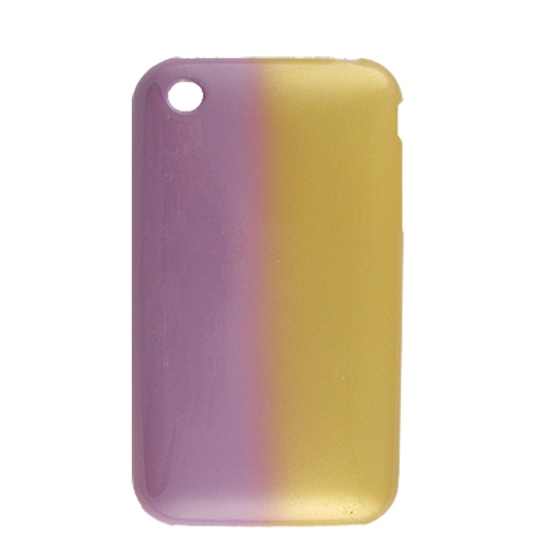 Hard Plastic Back Case for iPhone 3G Gold Tone Purple