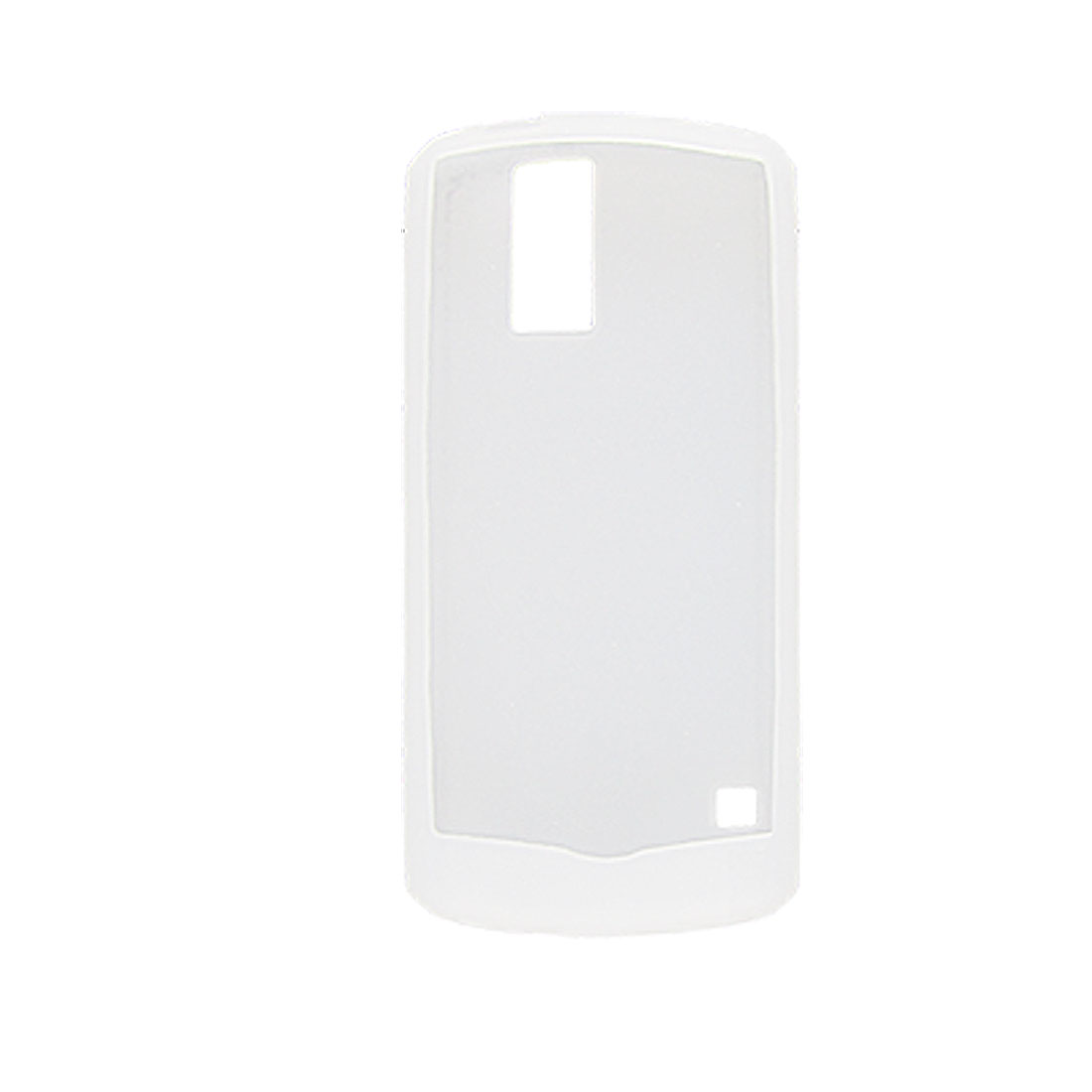 Silicone Phone Shell Cover Skin for Blackberry 8100 Clear White