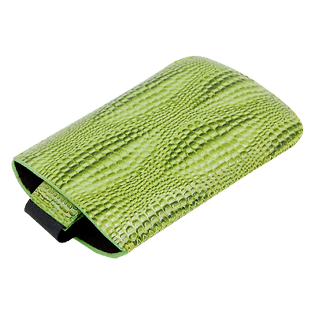 Green Faux Leather Snakeskin Design Pull Up Sleeve Case for Nokia 5800