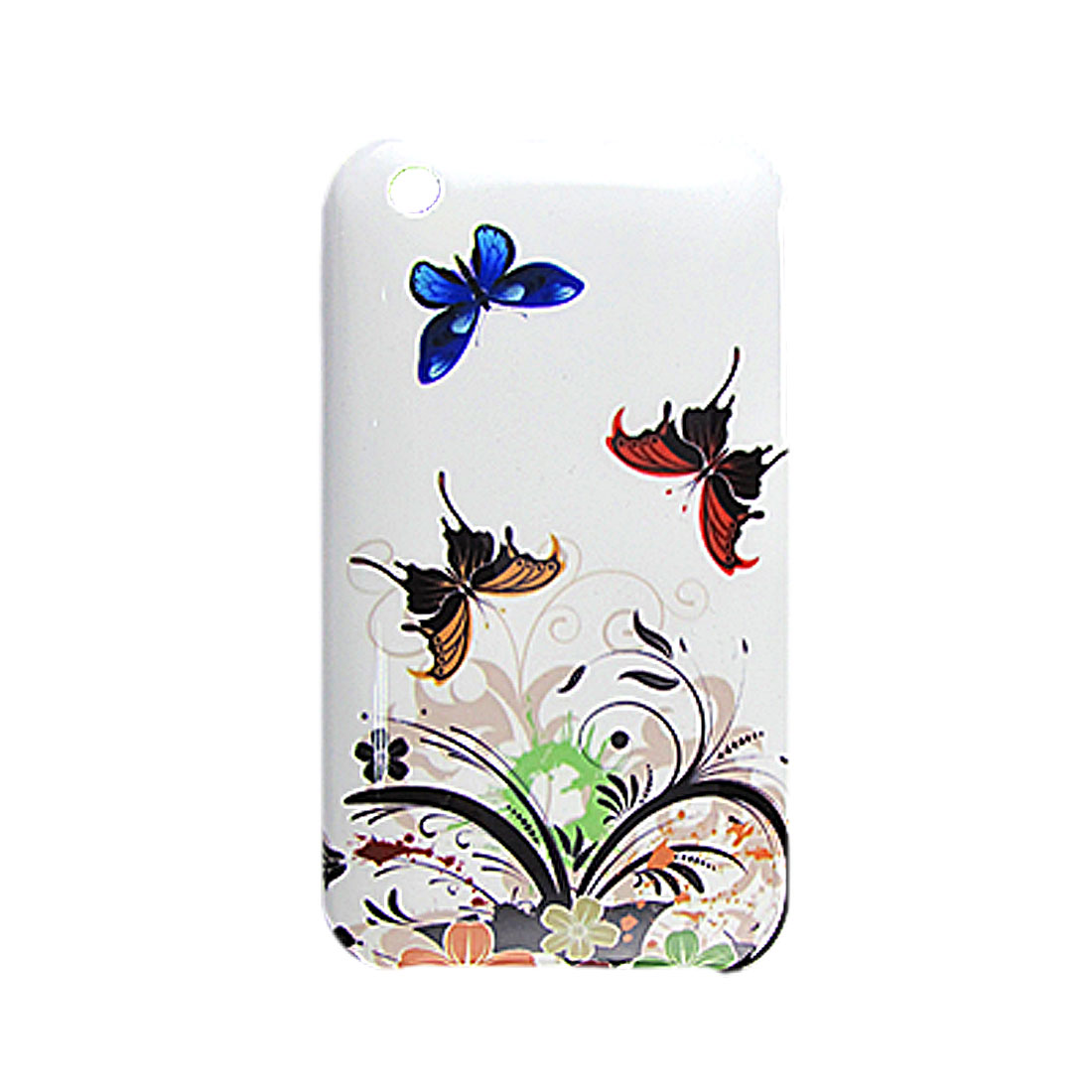 Colors Butterfly Print Hard Plastic Shell Case for iPhone 3G