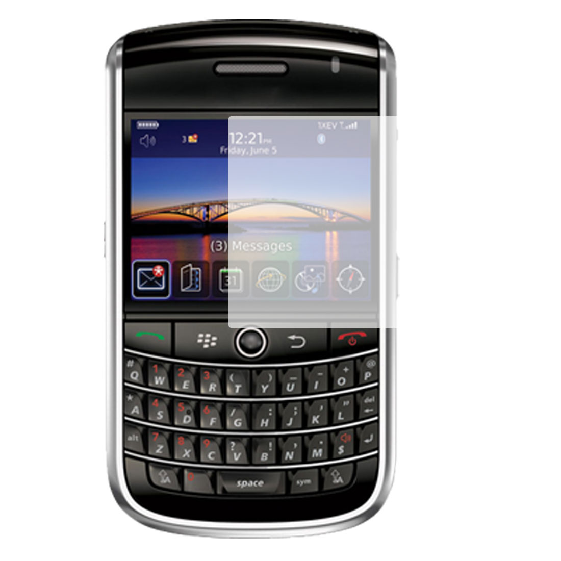 Clear Anti-glare Screen Guard Cover for Blackberry 9630