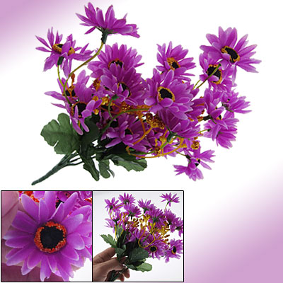 Home Chrysanthemum Artificial Daisy Flower Bouquet Decor Purple