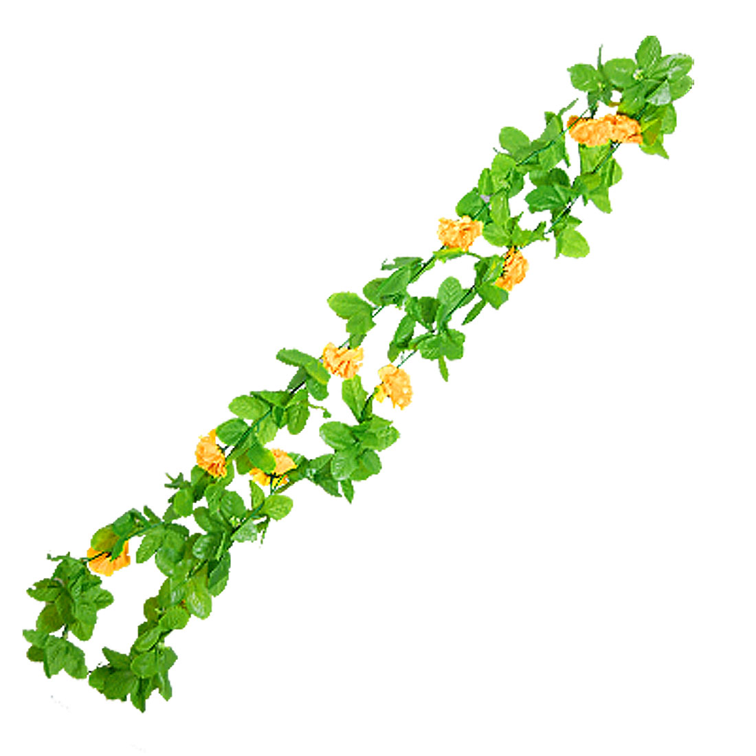 Artificial Yellow Peony Flower Garland Floral Party Wedding Home Decor 6.8Ft