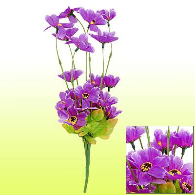 DIY Decorative Desktop Artificial Chrysanthemum Flower Bouquet Purple
