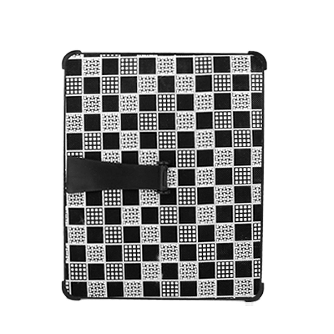 Checked Print Hard Plastic Protector with Bracket for Apple iPad 1