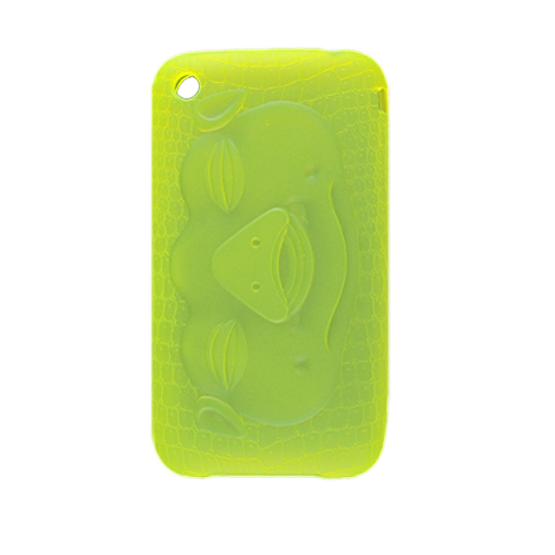 Soft Plastic Lime Color Pig Head Back Case for iPhone 3G