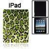 Faux Leather Coated Hard Plastic Leopard Pattern Cover for Apple iPad 1