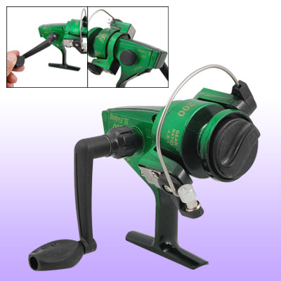 Green Gear Ratio 4.8:1 Metal Ball Bearing Fishing Spinning Reel Spool