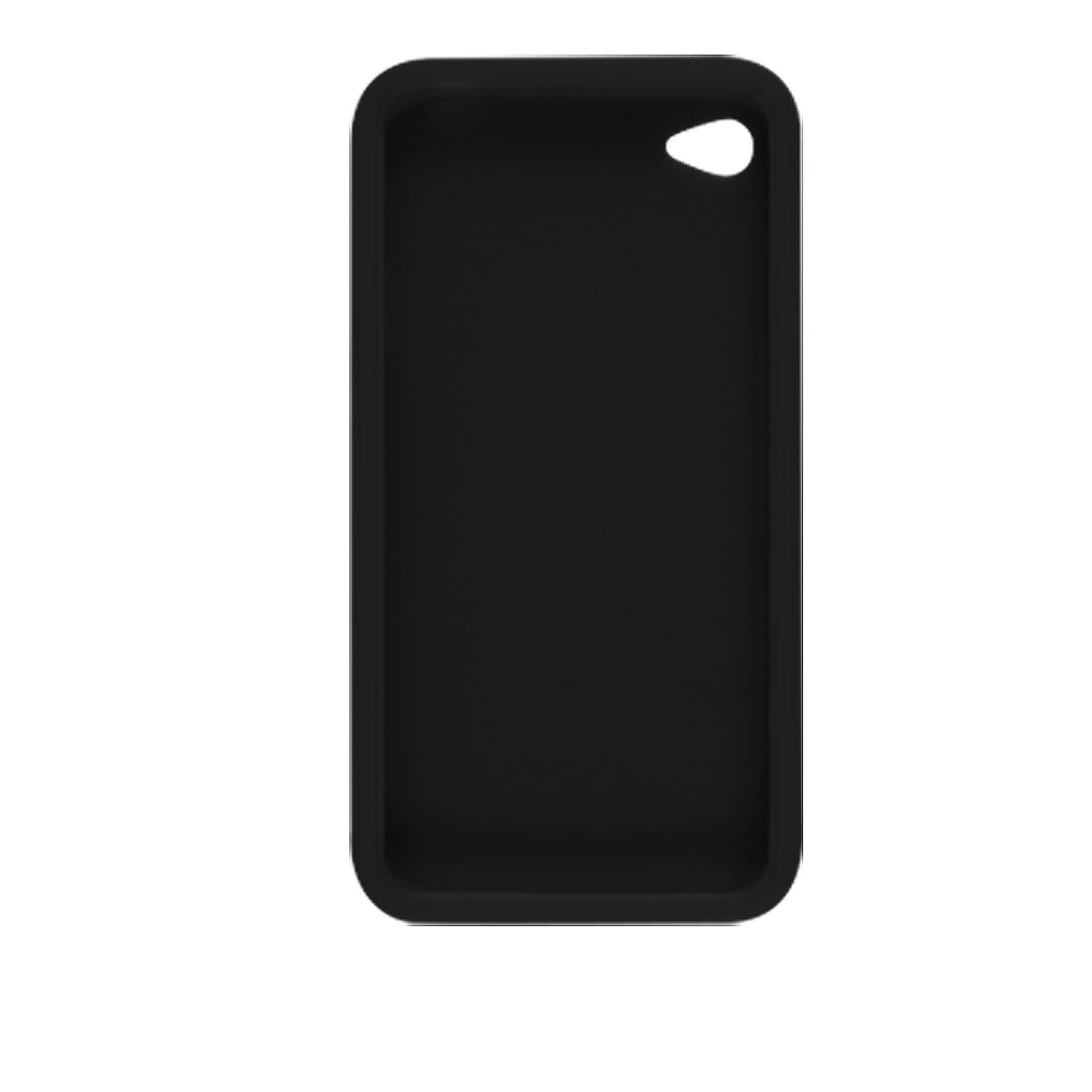 Black Silicone Skin Case Cover Shell Shield for iPhone 4 4G