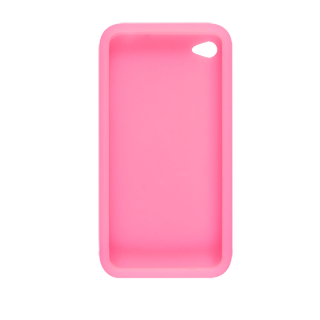 Phone Pink Silicone Skin Back Case Cover for iPhone 4 4G
