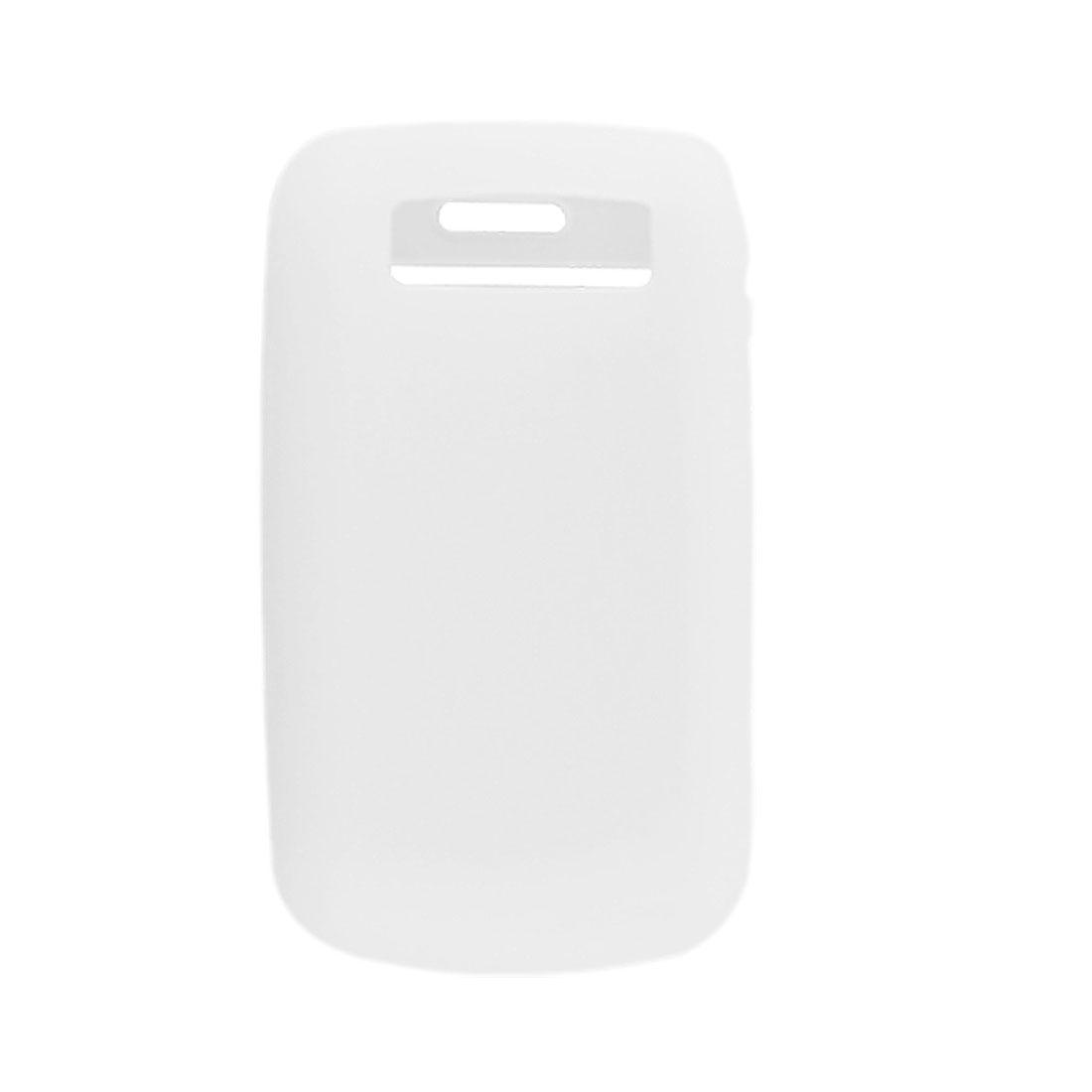 White Silicone Skin Case Screen Guard for Blackberry Bold 9700