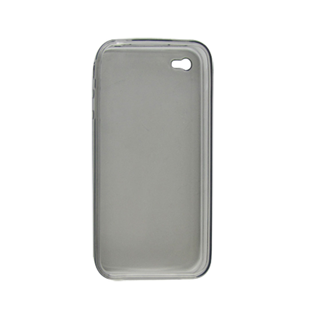 Grey Soft Plastic Protective Case Cover for Apple iPhone 4 4G