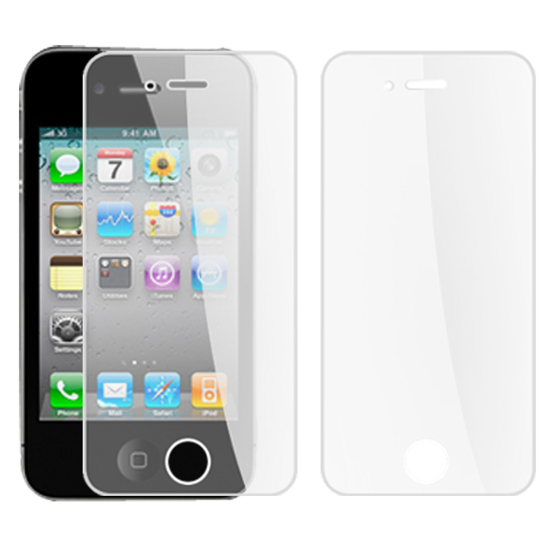 Home Plastic LCD Screen Guard Cover Protector for Apple iPhone 4 Clear