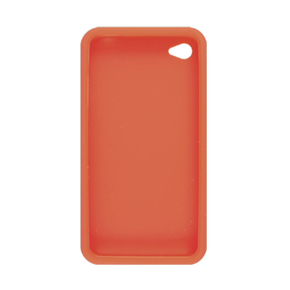 Silicone Skin Cover + Screen Protector for Apple iPhone 4 Red
