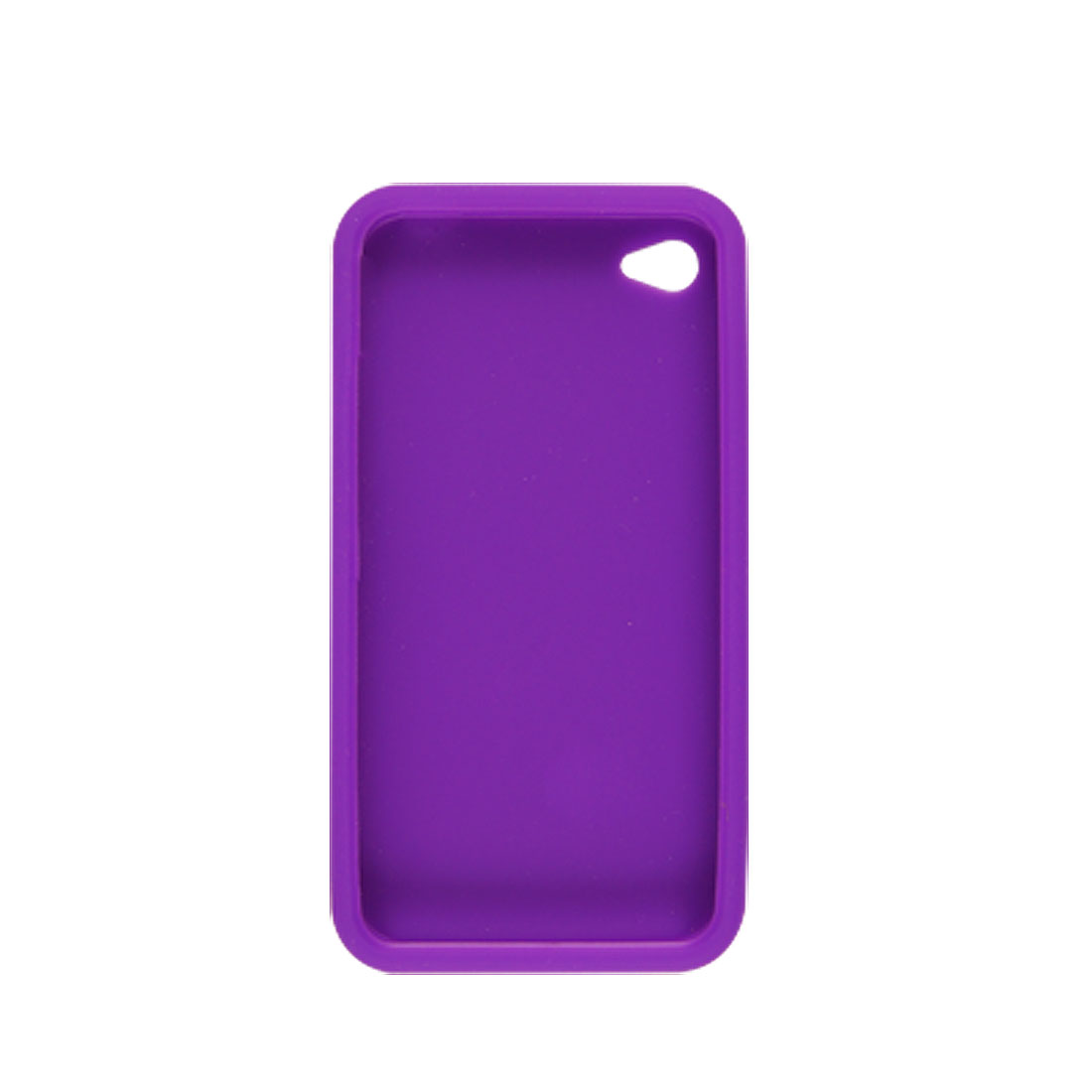 Purple Silicone Back Case + Screen Guard for Apple iPhone 4 4G