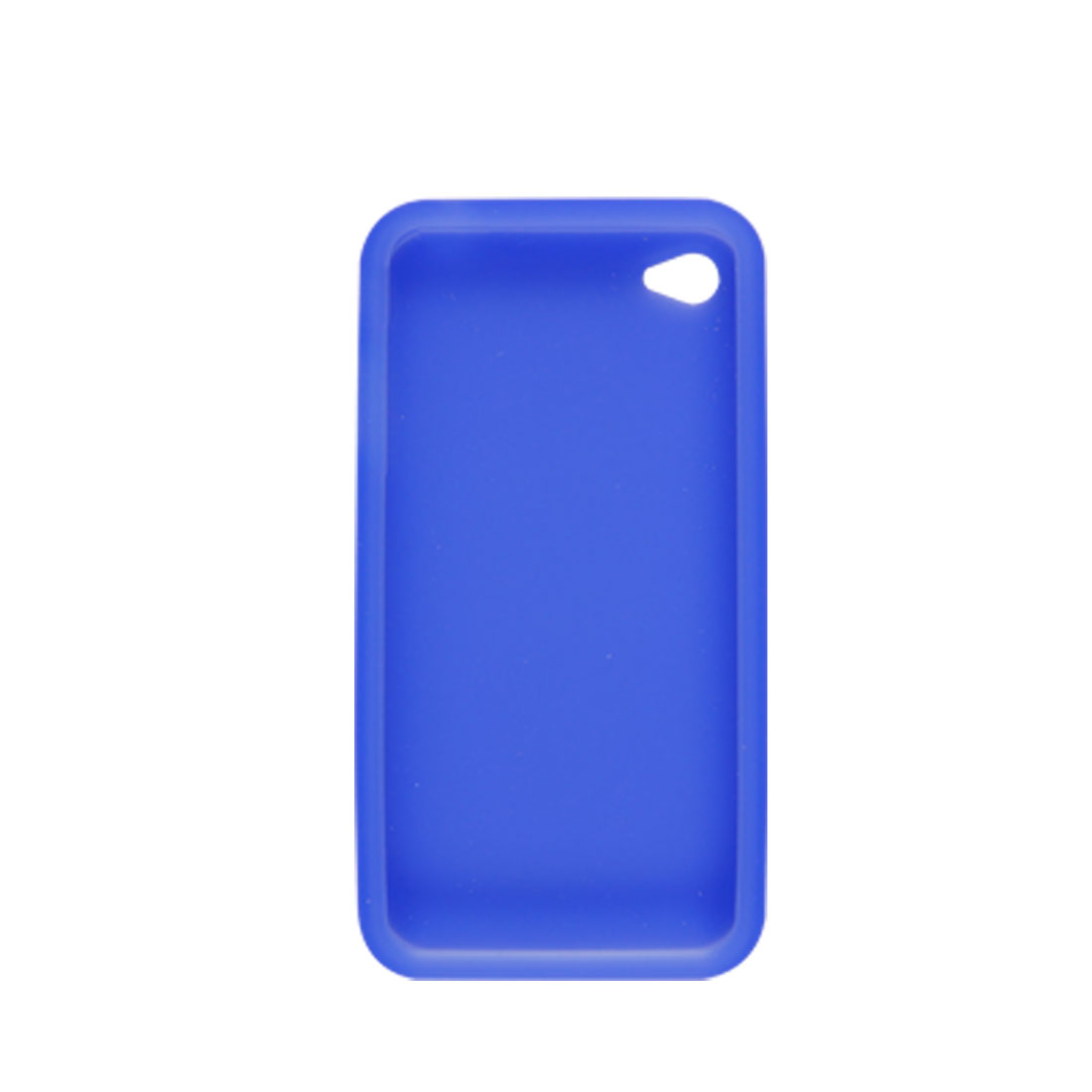 Screen Guard + Blue Soft Silicone Skin Cover for Apple iPhone 4